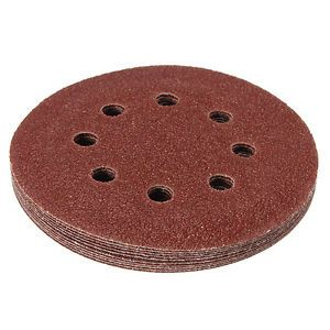 SANDING DISCS - HOOK & LOOP - PUNCHED - ALUMINIUM OXIDE  (PACK OF 10)